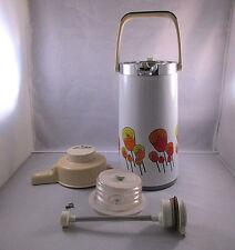 Vintage Floral Design Pump Dispenser 8 Cup Thermos Universal Ind - PARTS ONLY!