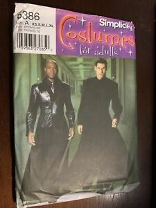 Simplicity Sewing Pattern 5386 Men's Costume Matrix Neo Duster XS-XL Cosplay New