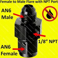 "Female Union 1//8/"" NPT Side Port 6 AN AN6 Male"