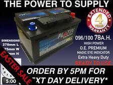 New Genuine OEM Heavy Duty Car Battery-Type 096 100 78ah 4 YEAR GUARANTEE S4008