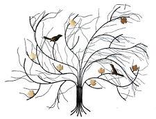 Metal wall art - wall sculpture  Autumn wind-swept tree 75 cm wide, 60 cm high