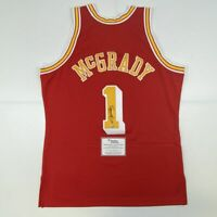 Autographed/Signed TRACY MCGRADY Rockets Red Mitchell & Ness Jersey Fanatics COA