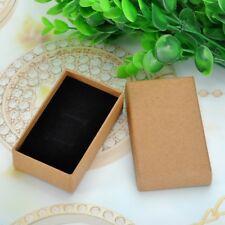 5 Boîte à Bijoux Coffret Cadeau Bague Boucle d'oreille Jaune-Brun 8.3x5cm