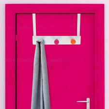 Attaccapanni per Porta 3 Ganci Appendiabiti Metallo e Legno 35x22cm Multicolore