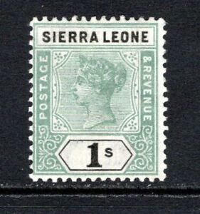 Sierra Leone QV 1896-97  1s. Green & Black SG50 M/Mint