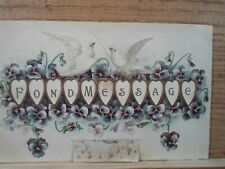 antique moveable Valentine post card dated 1910