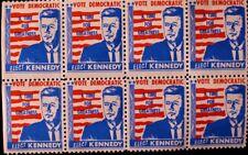 JFK - 8 ELECT JOHN KENNEDY DEMOCRAT 1960  ELECTION STAMPS - ORIGINAL SCARCE