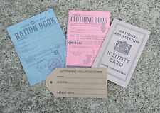 Reproduction Ww2 Documents Evacuee Pack I.d. Card Ration Books and Tag