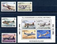 Ascension MiNr. 602-05 + Block 24 postfrisch MNH Flugzeuge (FZ710