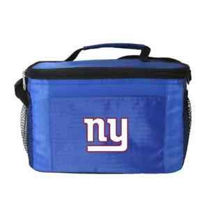 New York Giants Cooler Zipper Insulated Lunch Bag Box Tote 6 Pack NFL