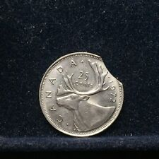 Canada | 1972 25 Cents Quarter Dollar Large Clipped Planchet |