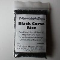Black Voodoo Rice Karma Curse Sends Justice Pain Cheaters Hex Potent Hoodoo