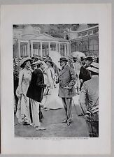 "1911 PRINT KING EDWARD VII MARIENBAD 1909 MORNING VISIT TO THE SPRINGS ""THE CURE"