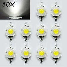 10x 3V White High Power Led Light Small Lamp Beads 90-100LMLED DIY 1W Integrated