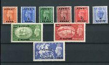 Kuwait KGVI 1950-55 set of 9 SG84/92 MNH