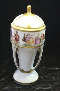 Antik Jugendstil Deckel Vase Schale aus Vitrine Sammlerstück gemarkt 28x11cm