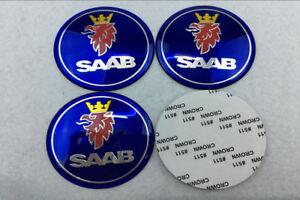 4pcs 65mm Wheel center Hub Sticker Cover Caps Car Logo Emblem Fit for SAAB