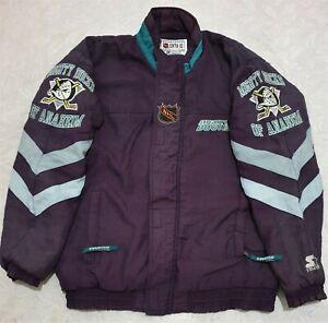 Vintage 90's Mighty Ducks Of Anaheim NHL Center Ice Starter Full Zip Jacket XL