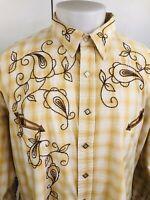 PANHANDLE SLIM / BROOKS & DUNN Embroided Square Snap Western Mens XXL Shirt