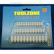 Toolzone Electrical Terminal Block Connector Strip Set - 3 Amps, 5 Amps, 10 Amps