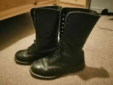 Size 7 Dr Martens 14 Hole Black Boots Unpolished