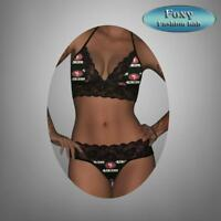 San Francisco 49ers sexy scallop lace top - matching gstring lingerie