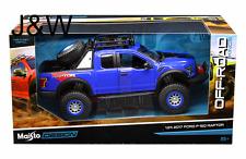Maisto Ford F150 SVT Raptor 2017 Off Road Edition Blue 32521BL 1/24