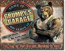 Grumpy's Garage metal sign  410mm x 300mm (de)