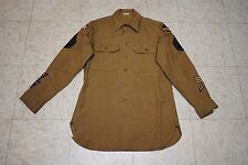 Original WW2 U.S. Army 7th Air Force Wool Shirt w/Specialist Patches