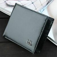 Men's Black Brown Leather Wallet ID Card Money Holder Clutch Slim Bifold Purse
