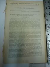 Government Report 1874 Pacific Mail Steamship Company China Mail Run. #3420