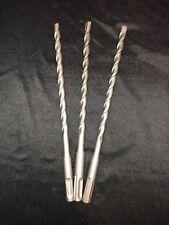 """Qty 3 SDS Rotary Hammer Drill Bits 3/8"""" x 8 1/4"""" fit Hilti Bosch DeWalt Mikita"""