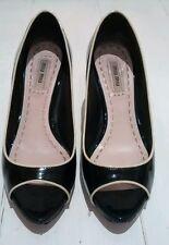 Miu Miu black patent leather heels, size 36