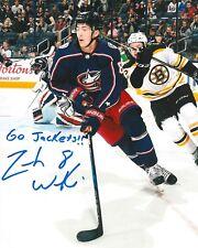 ZACH WERENSKI signed COLUMBUS BLUE JACKETS 8X10 photo w/ COA H