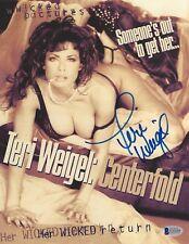 Teri Weigel Signed 8.5x11 Photo BAS Beckett COA Original Centerfold Movie Poster