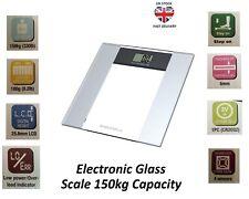 150kg Digital Electronic Glass BATHROOM  SCALE LCD Display Self Weighting Scale