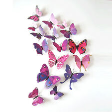 12PCS 3D Butterfly Sticker Magnet Wall Decals DIY Removable Art Vinyl Mural Home