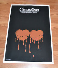 "24x36"" Cuban movie Poster 4 film Clandestinos.Bleeding love hearts art.LAST 1"