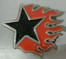 Black Star Red Flames Monster Belt Buckle 2000 Mobtown Chicago