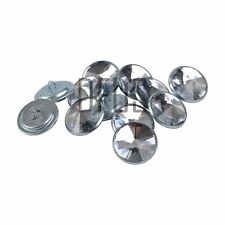 100 x 17mm clear diamante crystal upholstery headboard buttons Nail back