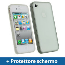 Chiaro Custodia TPU Gel per Apple iPhone 4 & 4S 4G 16gb 32gb Case Cover Rigida