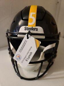 2019 Pittsburgh Steelers #5 Paxton Lynch Season Used Helmet
