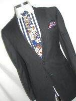 MENS LUXURY JAEGER  LONDON  MAYFAIR GREY  TAILOR-MADE THE SUIT  46REG  W40 X L32