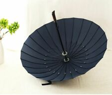 Brand Rain Umbrella Men Quality 24K Strong Windproof Glassfiber Frame Wooden New