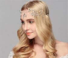 Pearls Wedding Hair Halo Rhinestone Bridal Headband Crystal Hair Vine 1 Piece