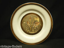 "Vntage Beautiful The Art of Chokin 6-1/2"" Collector Plate Gilded w Gold & Silver"