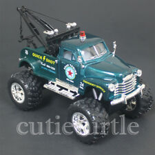 Kinsmart Off Road Big Foot Monster 1953 Chevy 3100 Wrecker Tow Truck 1:38 Green