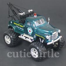 Kinsmart Off Road Big Foot Monster 1953 Chevy 3100 Wrecker Tow Truck 1:38 Green