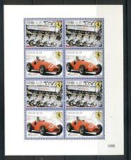 Nevis #1592 (2010 Ferrari cars sheet of four pairs) VFMNH  CV $8.00
