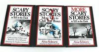 Scary Stories to Tell in The Dark 3 Books Kids Alvin Schwartz Original Artwork